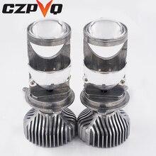 CZPVQ H4 LED Mini Projector Lens Hi/lo Beam Car Headlight 60W 8000LM 6500K 12V Automobles Bulbs Conversion Kit