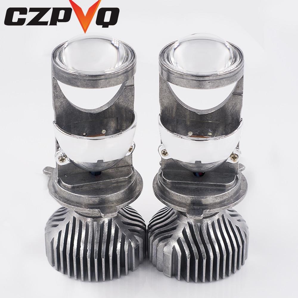 CZPVQ H4 mini projecteur LED Lentille Salut/lo Faisceau Voiture phare LED 60 W 8000LM 6500 K 12 V Automobles ampoule LED LED Kit de Conversion