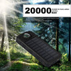 Universal Portable Source Ultrathin 20000mAh Large Capacity Solar Mobile Power Bank Phone Charging Treasure With Compass