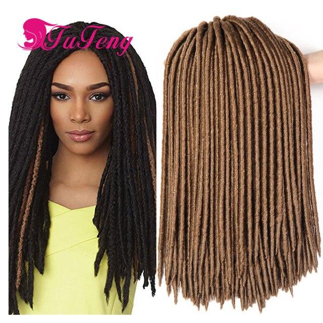 18 Inch Faux Locs Crochet Hair Dreadlock Extensions Havana Mambo