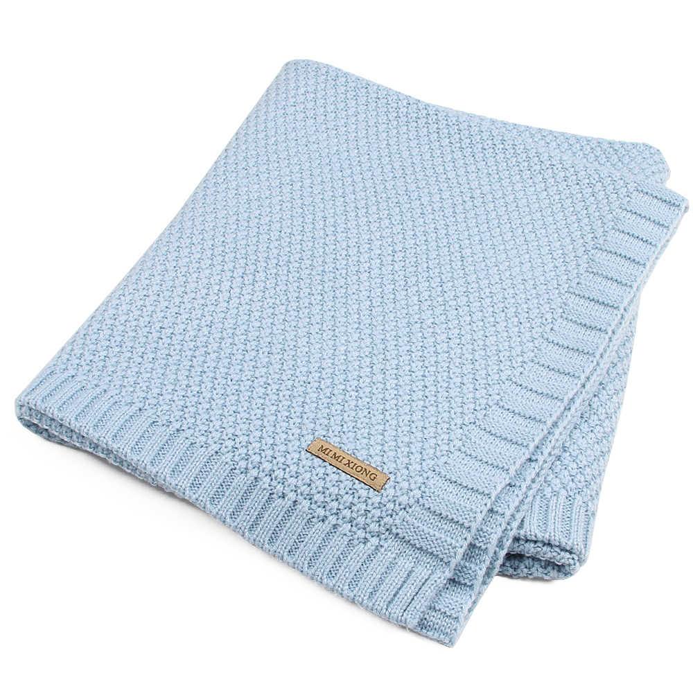 Детское одеяло вязаные пеленки для новорожденного супер мягкое одеяло для малышей детские постельные принадлежности одеяло для кровати диван корзина коляска одеяло s