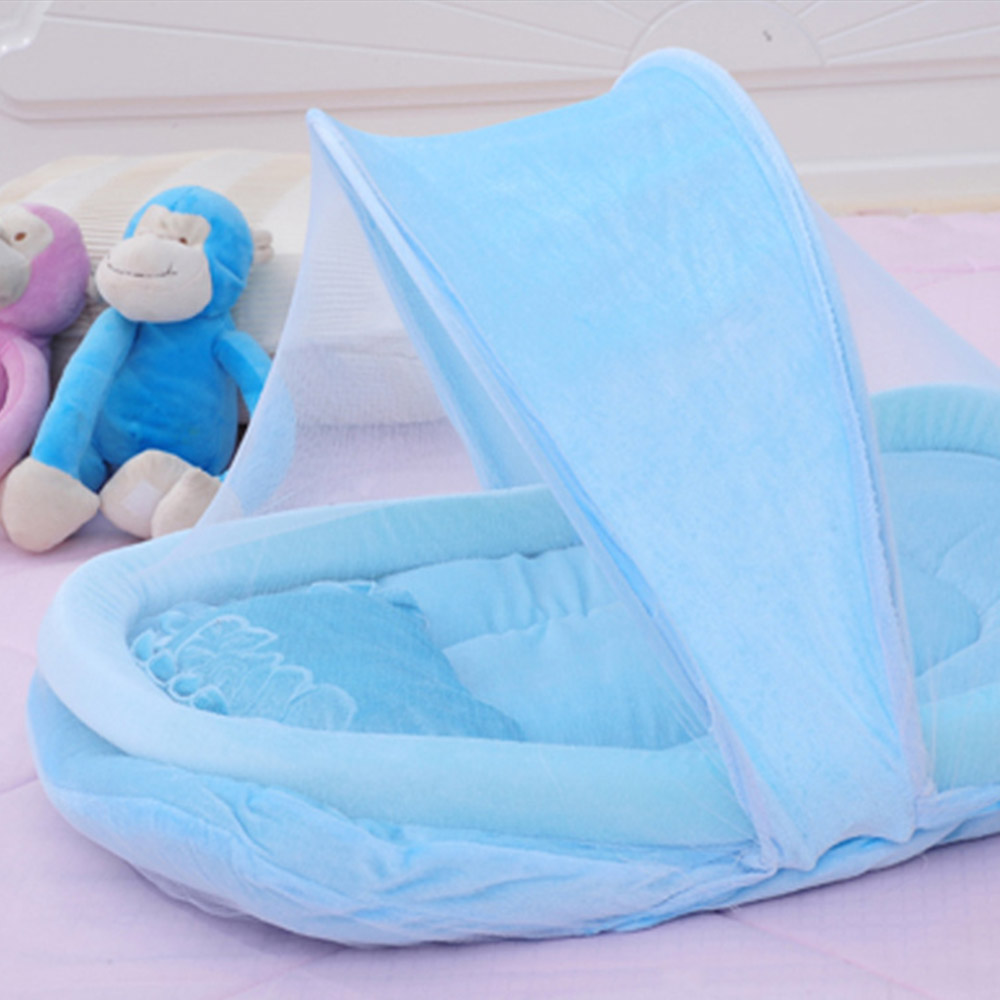 Newborn Sleep Travel Bed Newest Foldable New Baby Crib 0-3 Years Baby Bed With Pillow Mat Set Portable Folding Crib With Netting