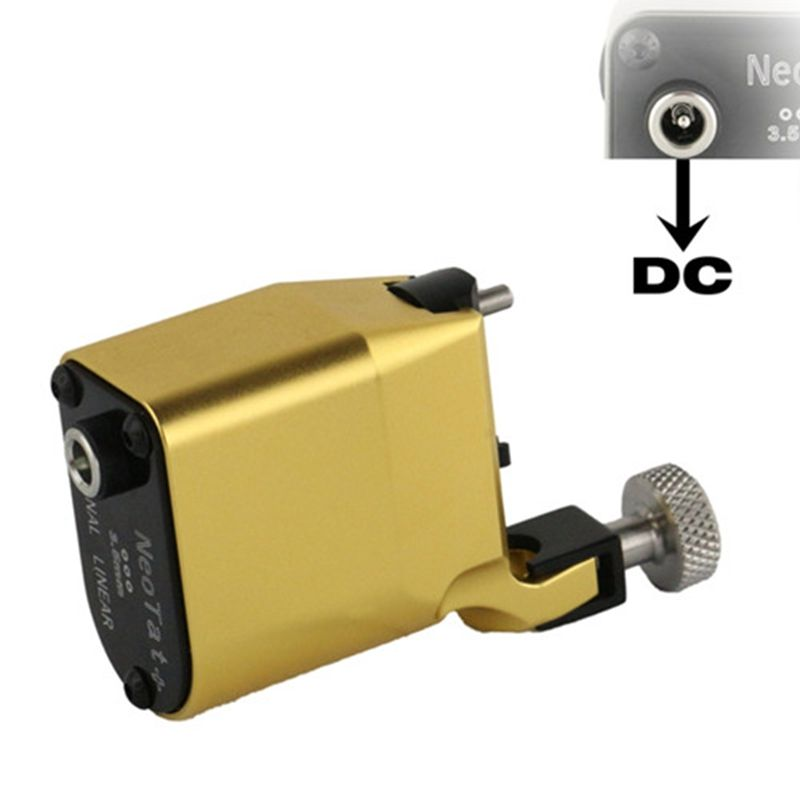 New Tattoo Machine NeoTat Rotary Tattoo Machine Best Quality Golden Color Permanent Tattoo Gun For Tattoo Artist Free Shipping permanent makeup rotary tattoo machine tattoo gun for learner use