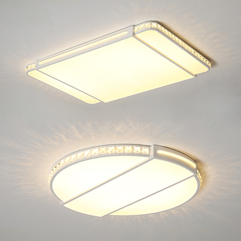 Square/round modern ultra-thin led ceiling lights for living room bedroom avize indoor home crystal deco ceiling lamp fixtures
