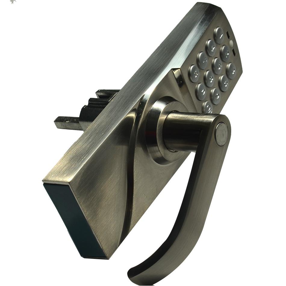 Digitale Tastatur Türschloss mit Backup Runde Key Locker Elektronische Eintrag durch Passwort Code Kombination Passwort + Schlüssel OS7717 - 3