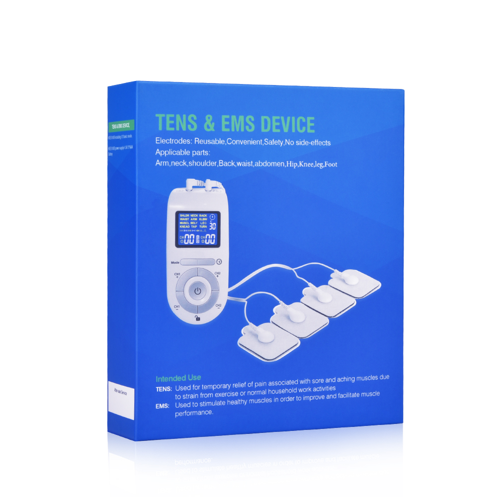 FDA Tens Unit Muscle Stimulator Pulse Massage 2 Channels LCD EMS Massager Back Neck Stress Sciatic Pain and Muscle Relief in Massage Relaxation from Beauty Health