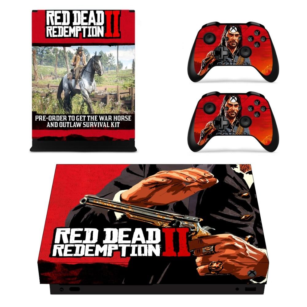 Red Dead Redemption 2 Della Decalcomania Autoadesivo Della Pelle Per Microsoft Xbox One X Console e 2 Controller Per Xbox One X skin Adesivi In Vinile