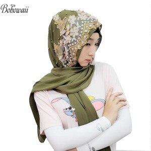 Image 2 - BOHOWAII Islam India Muslim Hijab Scarf 14 Colors Women Underscarf Hoofddoek New Design Kopftuch Headscarf Hijab Femme Musulman