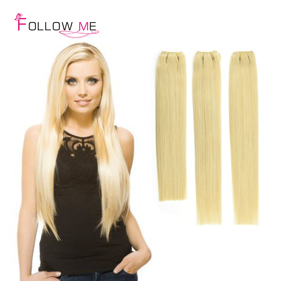 Silky Straight Peruvian Blonde Remy Hair Weave 3 Bundles Color 613