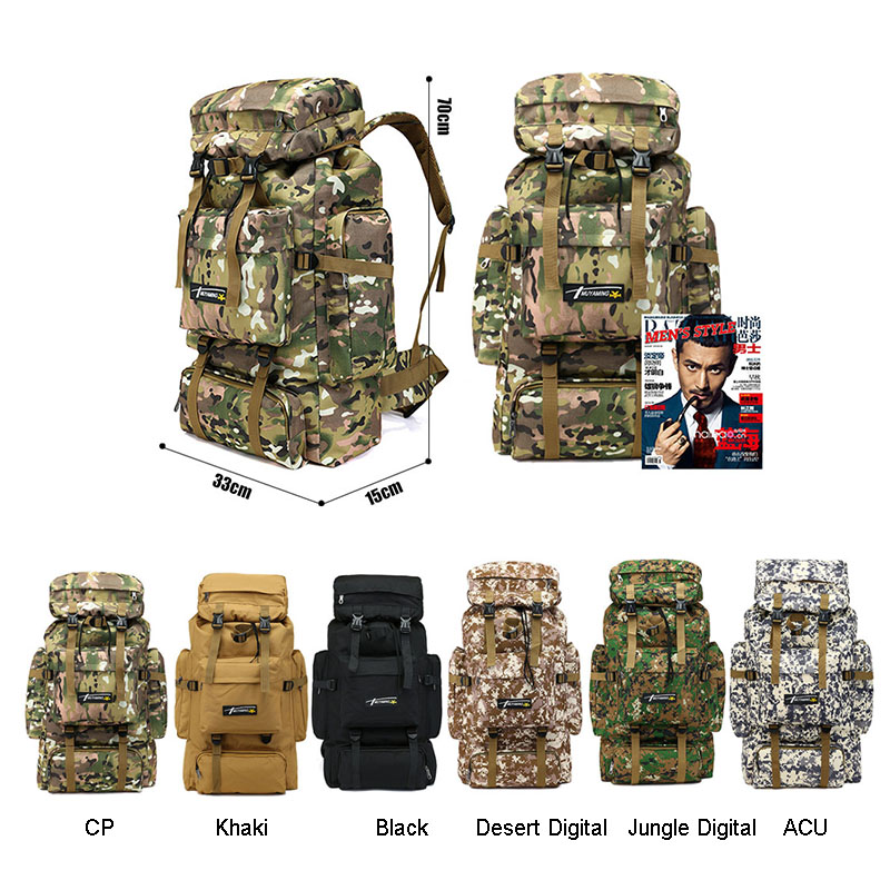 70L Tactical Bag Military Backpack Mountaineering Men Travel Outdoor Sport Bags Molle Backpacks Hunting Camping Rucksack XA583WA Luggage & Bags cb5feb1b7314637725a2e7: ACU|CP camouflage|Desert Digital|Jungle Digital|black|Khaki`