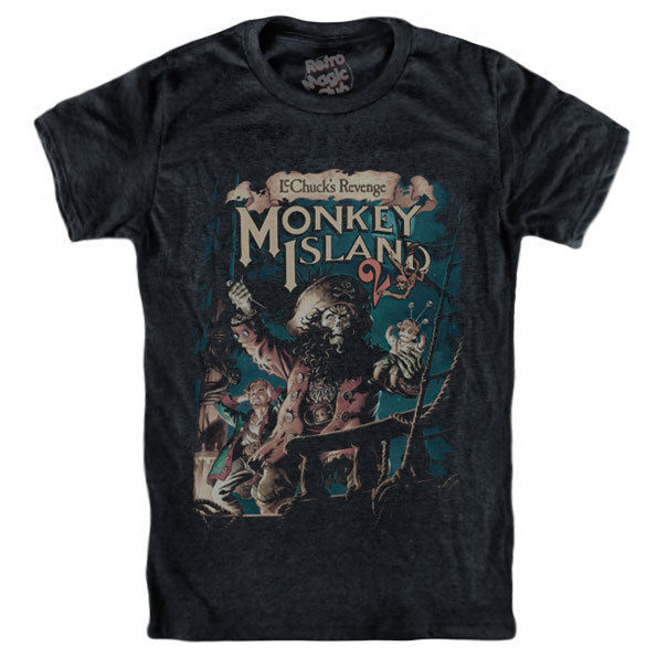 Tops & Tees Monkey Island T-shirt Treasure Guybrush Threepwood Round Neck Best Selling Male Natural Cotton Shirt Top Tee T-shirts