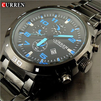 Curren Fashion Calendar Stainless Steel Men Man S Precision Watch Dropship Brand