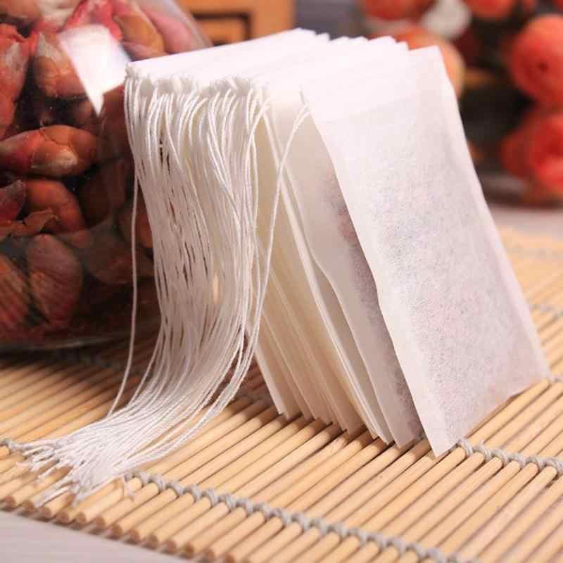 Bustine di 6x8CM food grade Vuoto Profumato Bustine di Tè Infusore Con La Stringa di Guarire Sigillo di Carta da Filtro per Erba tè sfuso Bolsas de te
