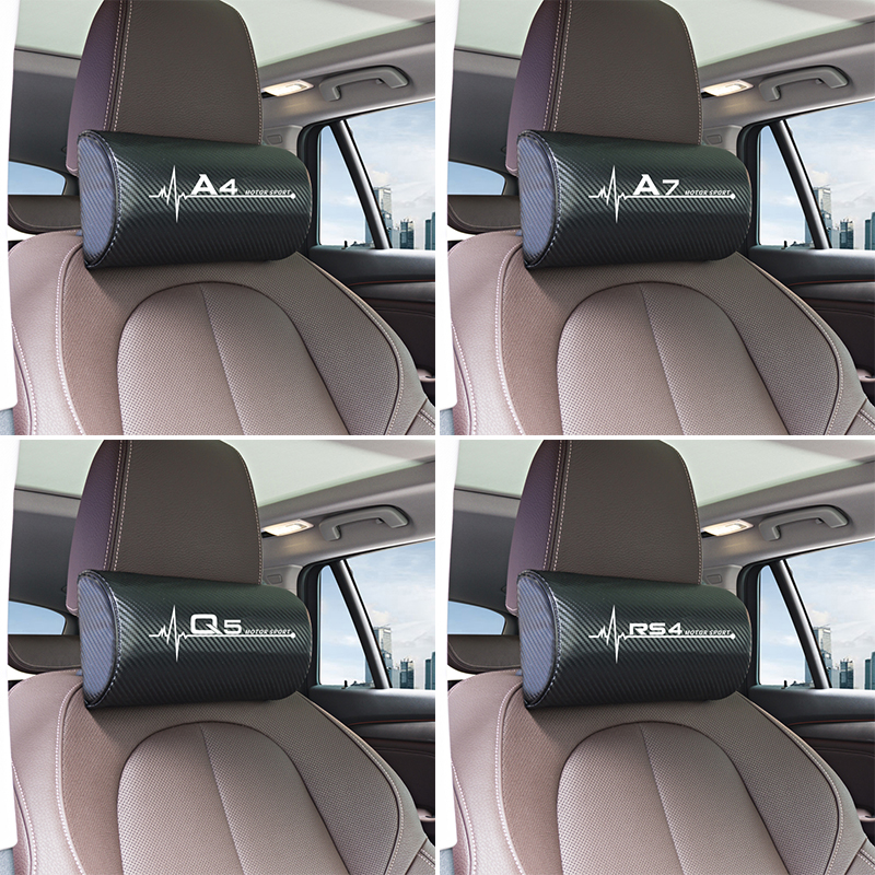 Car Neck Pillow Headrest Pad for Audi A4 B5 B6 B7 B8 B9 A3 8P 8V 8L A5 A6 C6 C5 C7 4F A1 A7 A8 Q2 Q3 Q5 Q7 RS3 RS4 RS5 RS6 TT-in Car Stickers from Automobiles & Motorcycles