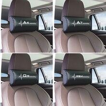 Car Neck Pillow Headrest Pad for Audi A4 B5 B6 B7 B8 B9 A3 8P 8V 8L A5 A6 C6 C5 C7 4F A1 A7 A8 Q2 Q3 Q5 Q7 RS3 RS4 RS5 RS6 TT