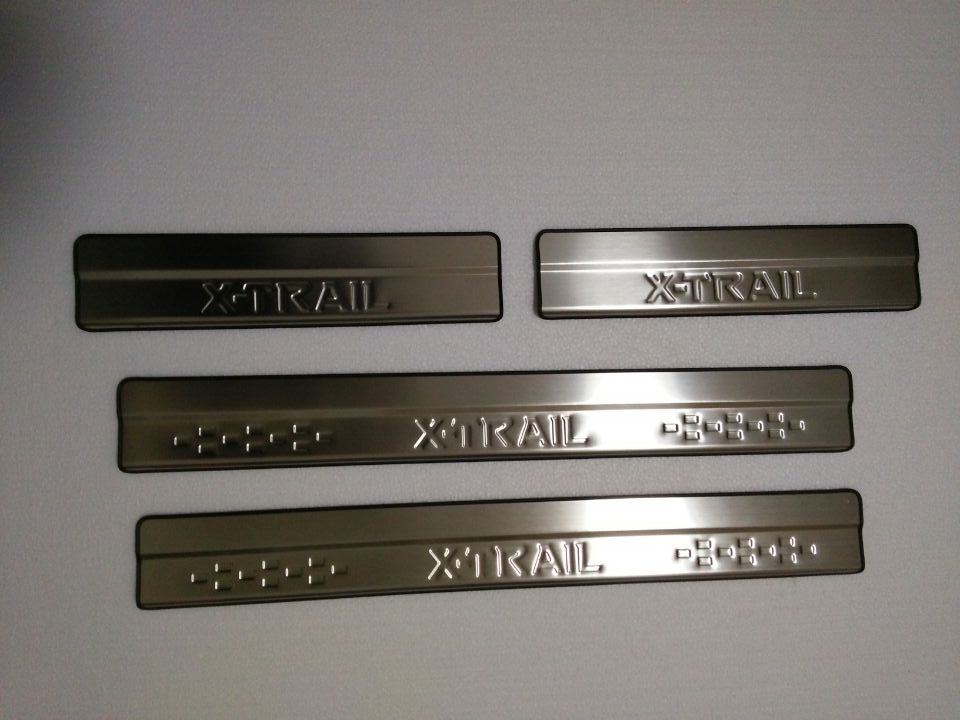 Stainless Steel Door Sill Scuff Plate for 2014-2017 Nissan X-Trail X Trail XTrail T32 Welcome Pedal Trim Car Styling Accessories stainless steel inner door sill scuff plate for land rover range rover sport 2014 2017 welcome pedal trim car accessories
