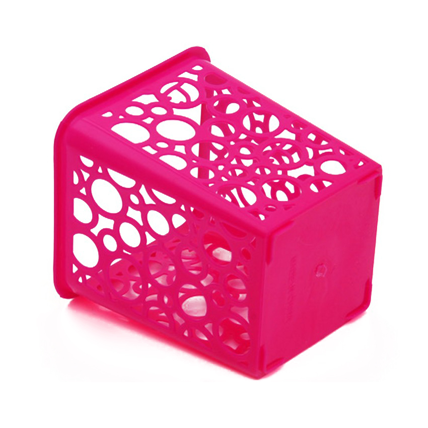 Multi-purpose Square Pen Holder Of Round Grid Stationery Pen Holder Office Supplies Storage Box Pencil Holder Brush And Pen Ho