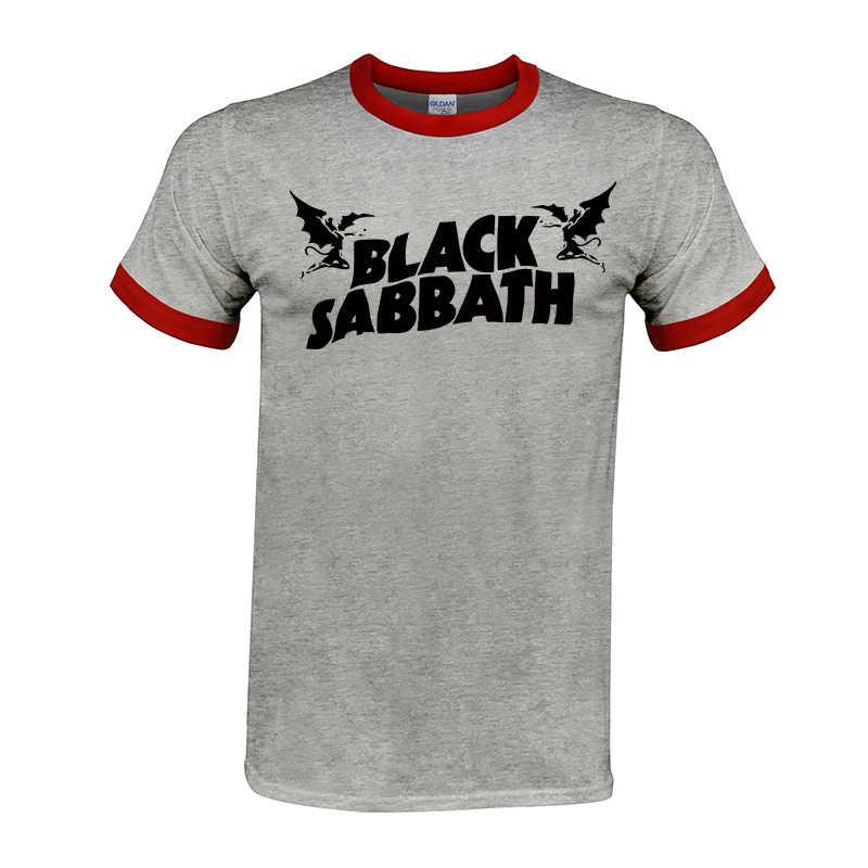 クール偉大な Tシャツメンズブラック · サバス米国ツアー重金属男性コージー T シャツラグラン袖クルーネックのコットングループトップス tシャツ #02