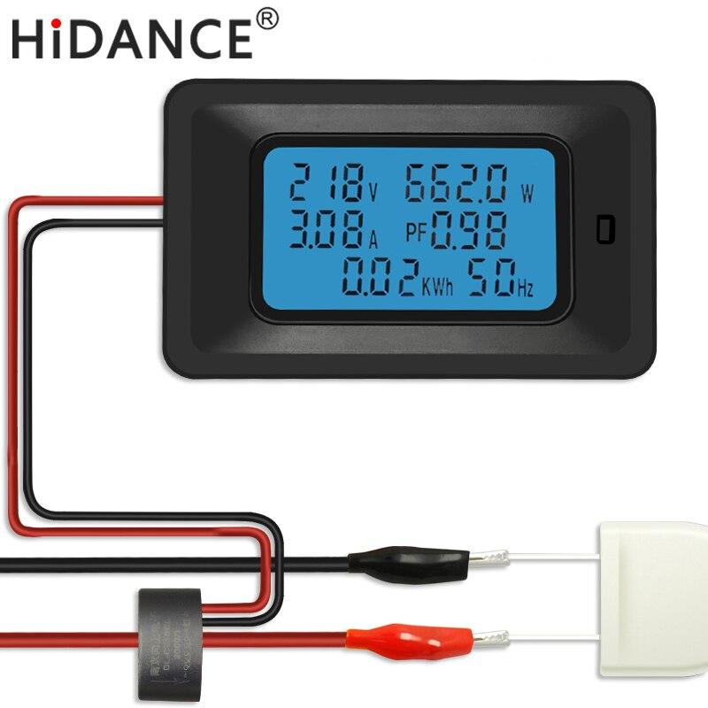 AC 5KW 85 ~ 250 V di Tensione Digitale Metri indicatore di Energia di Potere Voltmetro Amperometro corrente Ampere Volt wattmetro tester detector