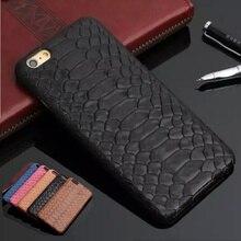 Натуральные Корова кожаный чехол для iPhone 7 Plus 7 Plus 3D змеиной кожи питона Дизайн Mobile Телефонные Чехлы solque