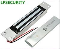 LPSECURITY 280 kg lass deursloten/Verborgen Shear Magnetische Slot voor deur toegangscontrole systeem/Bodem Rail Glas Deurslot