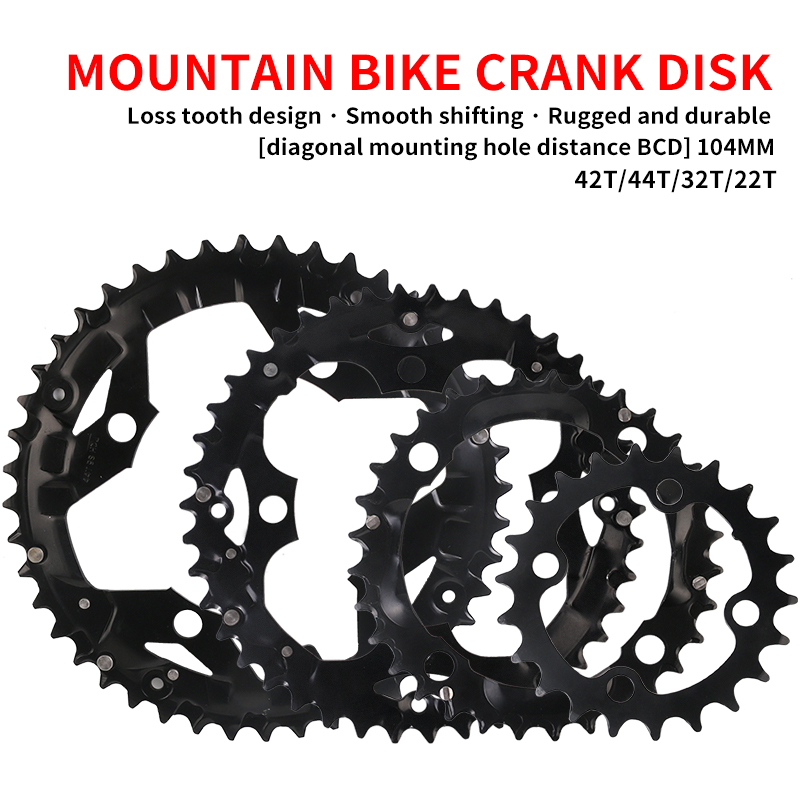 MTB Bicycle Chain Ring Chainring for SHIMANO SRAM Universal Crankset 22T/32T/42T/44T 104BCD cycling parts bike accessories