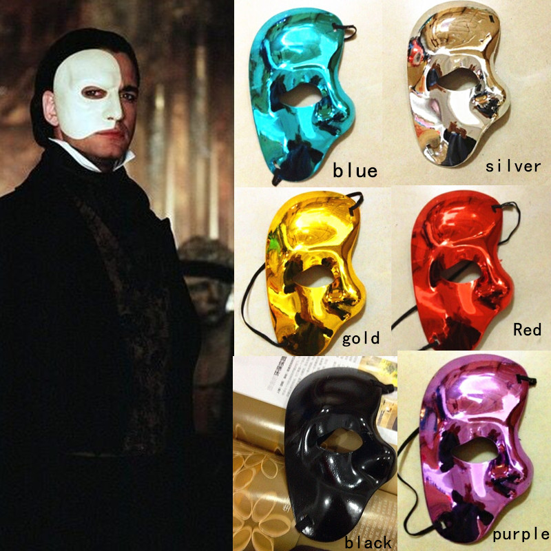 10PCS/Lot Opera Ghost Mask Half Face Earl Mask-in Party