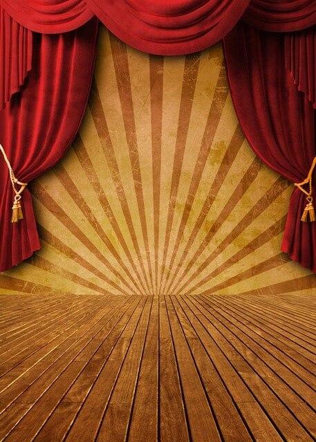 Aliexpress Buy Custom Vinyl Cloth Red Curtain Stage Wood Floor
