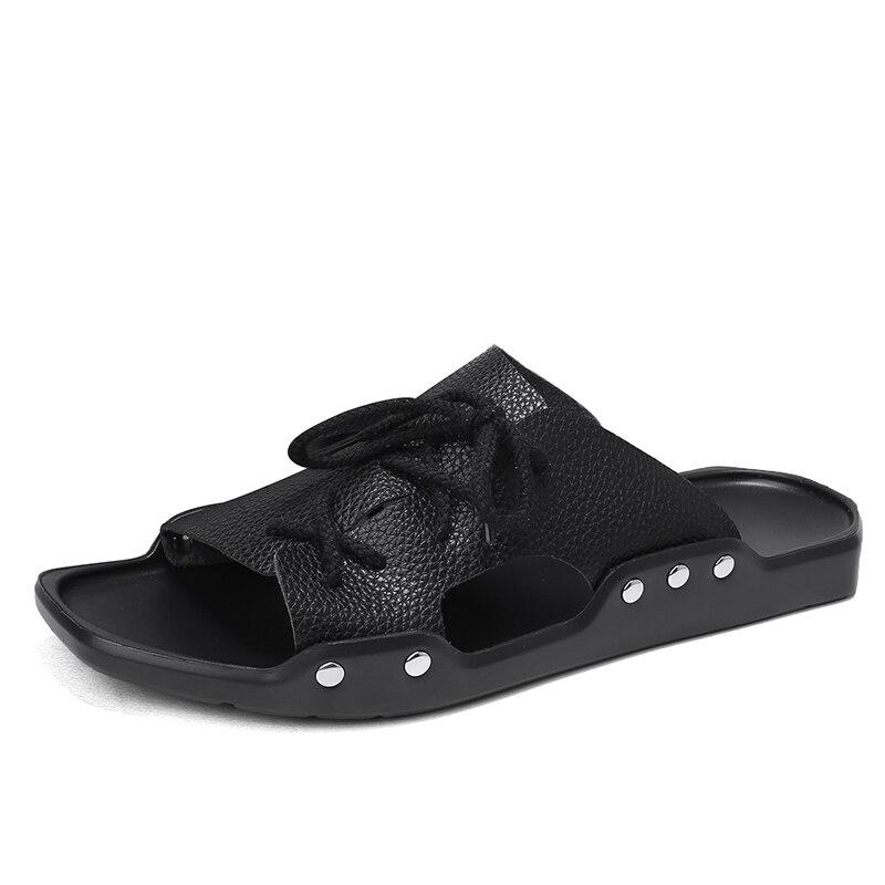 Degli uomini di Estate Casual Scarpe Traspirante Genuino Sandali di Cuoio Morbido Resistente Scarpe Anti-slittamento Multi-Funzione di Sandali Da Spiaggia LC250068