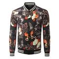 Cool College Baseball Jacket Men 2016 Fashion Design Black Pu Leather Sleeve Mens Slim Fit Varsity Jacket Brand Veste Homme