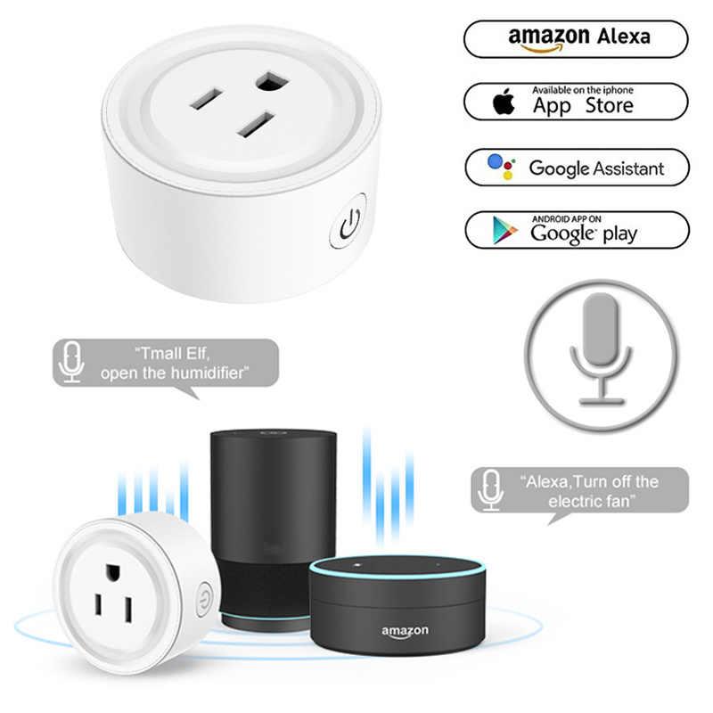 Prise intelligente WiFi prise US prise de contrôle à distance appareils ménagers prise intelligente-WIFI pour Alexa/google Home Mini