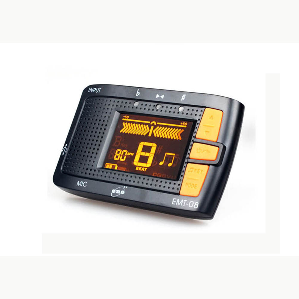 Eno EMT-08 Digital Rechargeable Metronome & Tuner '3 in 1'  for Chromatic/Guitar/Bass/Violin/Ukulele lt 33 electronic piezo clip on chromatic tuner guitar bass ukulele violin chromatic tuner for musical instrument accessories