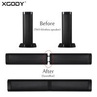 XGODY E6000 Home Theater Bluetooth TWS Speaker with Mic Stereo Soundbar Handsfree AUX Subwoofer Speaker Support TF Card for TV