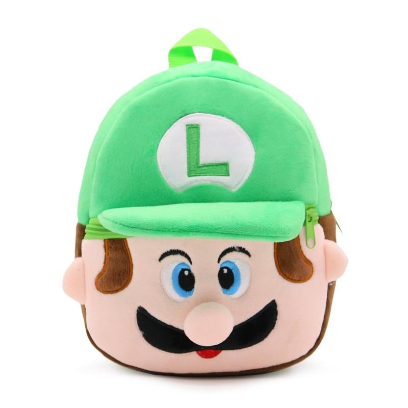 0-2 Alter Super Mario Cartoon Charakter Kleinen Rucksäcke Luigi Grün Mini Schultaschen Kindergarten Baby Mädchen Jungen Bagpack Produkte HeißEr Verkauf
