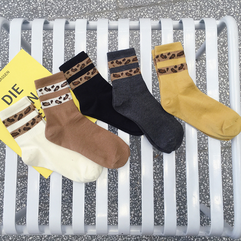 e4e35e168eb Detail Feedback Questions about Sporty Style Leopard Patterned Funny Short  Socks Women Hip Pop Hipster Harajuku Cotton Socks Fashion Vintage Casual  Winter ...