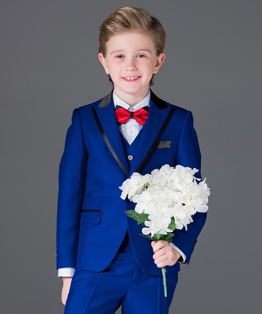 Latest Coat Pant Designs Royal Blue Kids Boy Suits For Wedding Party Prom Custom Made Children Dress Formal Boy Suits Blazer 3PC