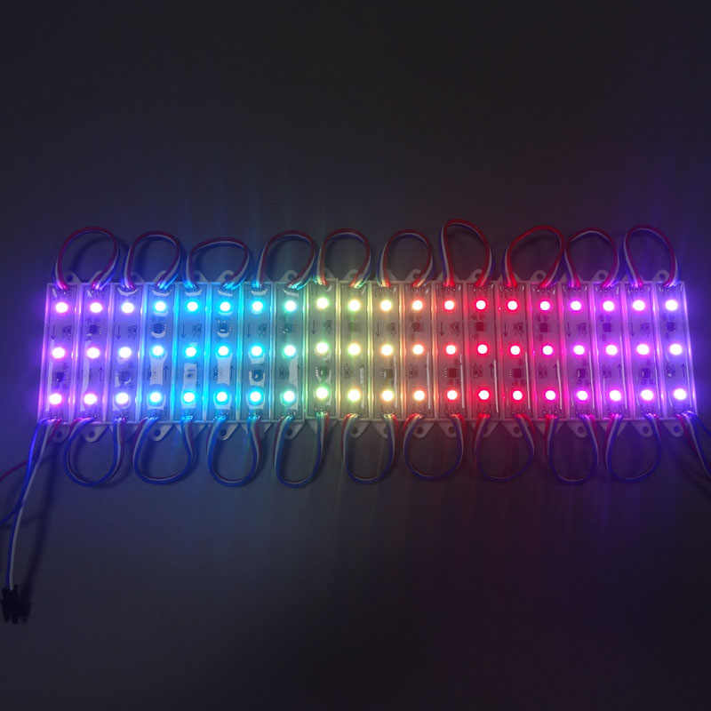 20 шт./лот DC12V супер яркий 3 светодиодный s ws2811ic UCS1903 SH1908 SMD цвет 5050 RGB Мечта светодиодный Pixel Модуль свет через служба доставки fedex express