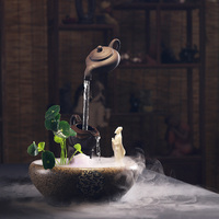 Zen Flowing Water Fountain Home Decoration Feng Shui Home Office Aquarium Lucky Humidifier Chinese Decoration Gift