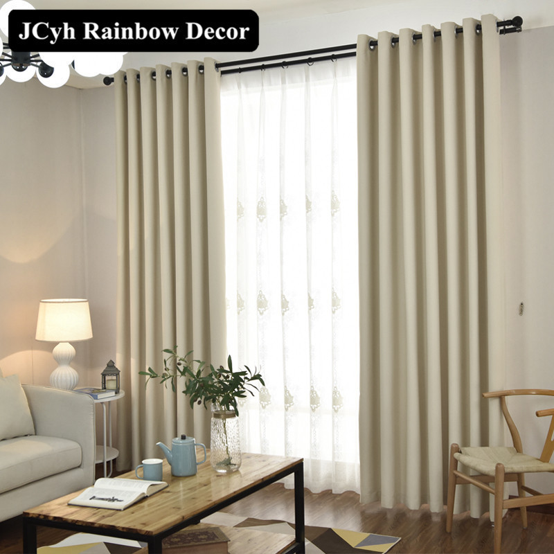 Modern Solid Blackout Curtains For Window Blinds Fabrics Window Curtains For Living Room The Bedroom Treatment Cortina Para Sala in Curtains from Home Garden