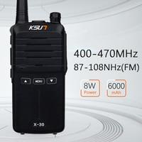 מכשיר הקשר KSUN X-30 כף יד מכשיר הקשר 8W צריכת חשמל גבוהה UHF כף יד שני הדרך Ham Radio Communicator HF משדר חובב Handy (2)