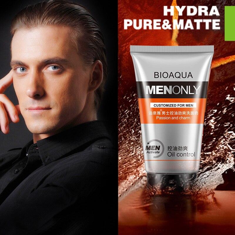 100% Original Bioaqua Marke Öl-control Gesicht Reiniger Befeuchtet Schrumpfen Poren Sauber Akne Mitesser Gesichts Reinigen Für Männer 100g Hohe QualitäT Und Preiswert