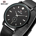 BELBI Steel Mesh Lovers Watch Men Top Brand Luxury Quartz Watches Waterproof Simple Style Rhinestone Women Wristwatch Clock 2017