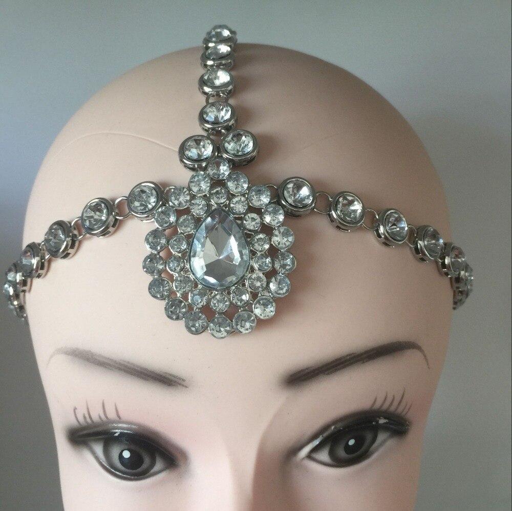 hot Matha Patti Wedding Handmade Kundan stones hair chain head chain head Jewelry