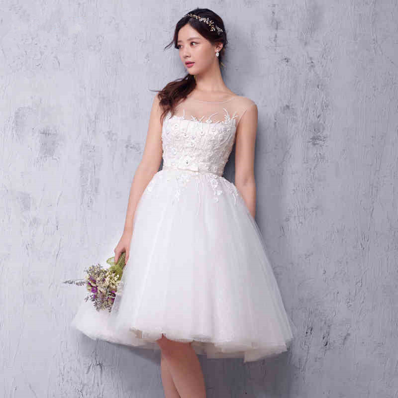 High Quality Short Lace Wedding DressesBuy Cheap Short Lace
