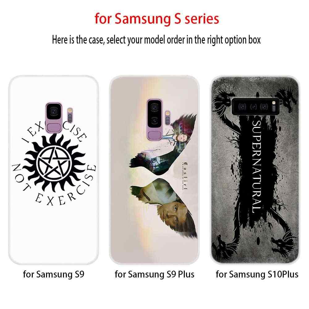 Модные ТВ Показать Логотип Supernatural силиконовый чехол S11 S10 S9 S8 плюс крышка для samsung S10 S7 S6 Edge Note 10 8 9 Etui чехол для телефона чехол s