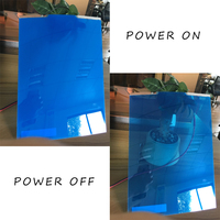 Blue Color Self Adhesive Smart PDLC Film As Rear Projection Film With Power Supply 29 7cm