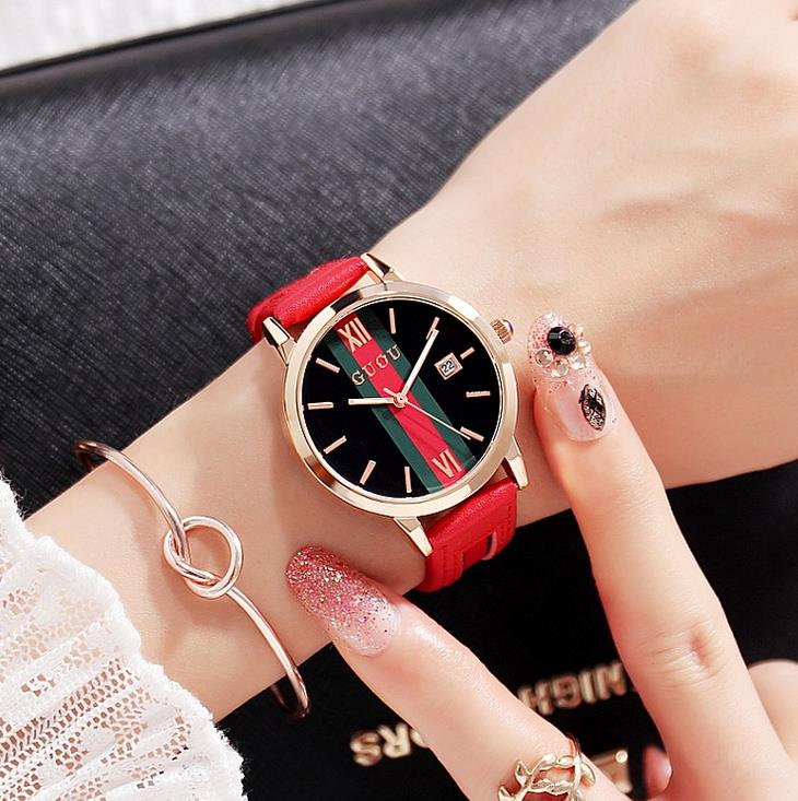 Luxury Clock Woman Fashion Designer Leather Strap Quartz-watch Ladies Watch Brand Women Watches for Girl Reloj Mujer relojes weiqin luxury gold wrist watch for women rhinestone crystal fashion ladies analog quartz watch reloj mujer clock female relogios