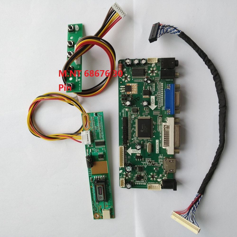 HDMI+DVI+VGA Kit for  CLAA154WB04 LCD Screen Controller Board NT68676