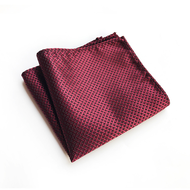 Unique Design Fashion Explosion Models 25x25cm Polyester Pocket Towel Retro Monochrome Business Dress High Quality Square Towel