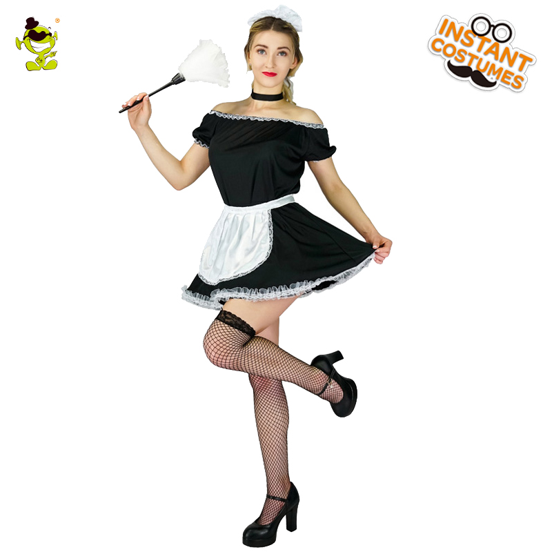 Delightful Adult French Maid Costume Carnival Role Play Sexy Waitress Outfits For  Women Cosplay Stunning Maiden Elegant Fancy Dress Costume